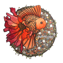 Load image into Gallery viewer, Blooming Goldfish  - Fish Inspired Watercolor - Art Print