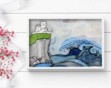 Load image into Gallery viewer, Song of the Sea - Seal Inspired Watercolor - Art Print