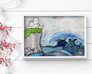 Song of the Sea - Seal Inspired Watercolor - Art Print