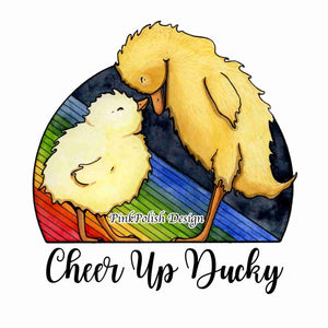 Cheer Up Ducky - Friendship Inspired Watercolor Painting - Art Print