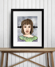 Load image into Gallery viewer, Eyes for You - Strong Woman Inspired Watercolor Painting - Art Print