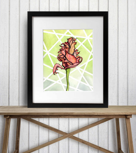Wilted - Floral Inspired Watercolor Painting - Art Print