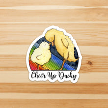 Load image into Gallery viewer, Cheer Up Ducky - Friendship Inspired Watercolor - Vinyl Die Cut Sticker