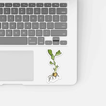Load image into Gallery viewer, Garbonzo Bean Sprout - Seed Inspired Watercolor - Vinyl Die Cut Sticker