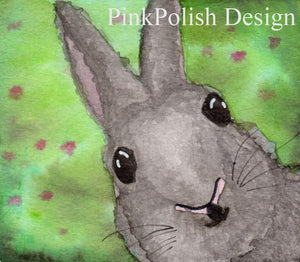 Bunny Surprise - Pet Inspired Watercolor - Art Print