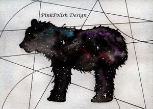 Ursa Minor - Constellation Inspired Watercolor - Art Print