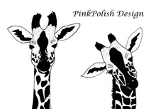 Load image into Gallery viewer, Sister Giraffe - Friendship Inspired Ink Drawing - Art Print