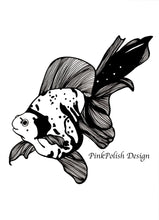 Load image into Gallery viewer, Goldie - Goldfish Inspired Ink Drawing - Art Print