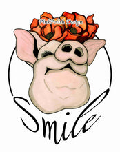 Load image into Gallery viewer, Poppy Pig - Smile Inspired Watercolor Painting - Art Print