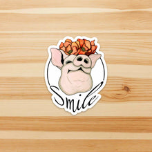 Load image into Gallery viewer, Poppy Pig - Smile Inspired Watercolor - Vinyl Die Cut Sticker