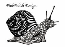 Load image into Gallery viewer, Snail's Pace, Ink - PNW Inspired Ink Drawing - Art Print