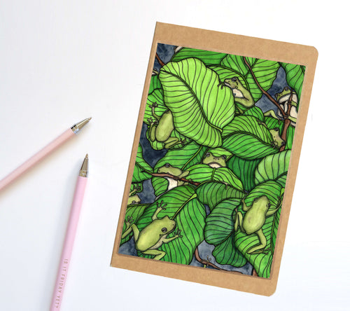 Knot of Frogs, Tree Frog Inspired Notebook / Sketchbook / Journal
