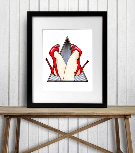 Kick Up Your Heels - Whimsy Inspired Watercolor Painting - Art Print