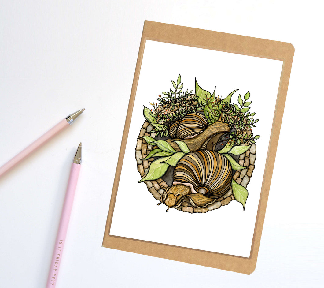 Snail Garden, PNW Inspired Notebook / Sketchbook / Journal