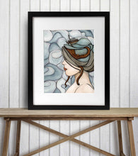 Load image into Gallery viewer, Adrift - Mental Health Inspired Watercolor Painting - Art Print
