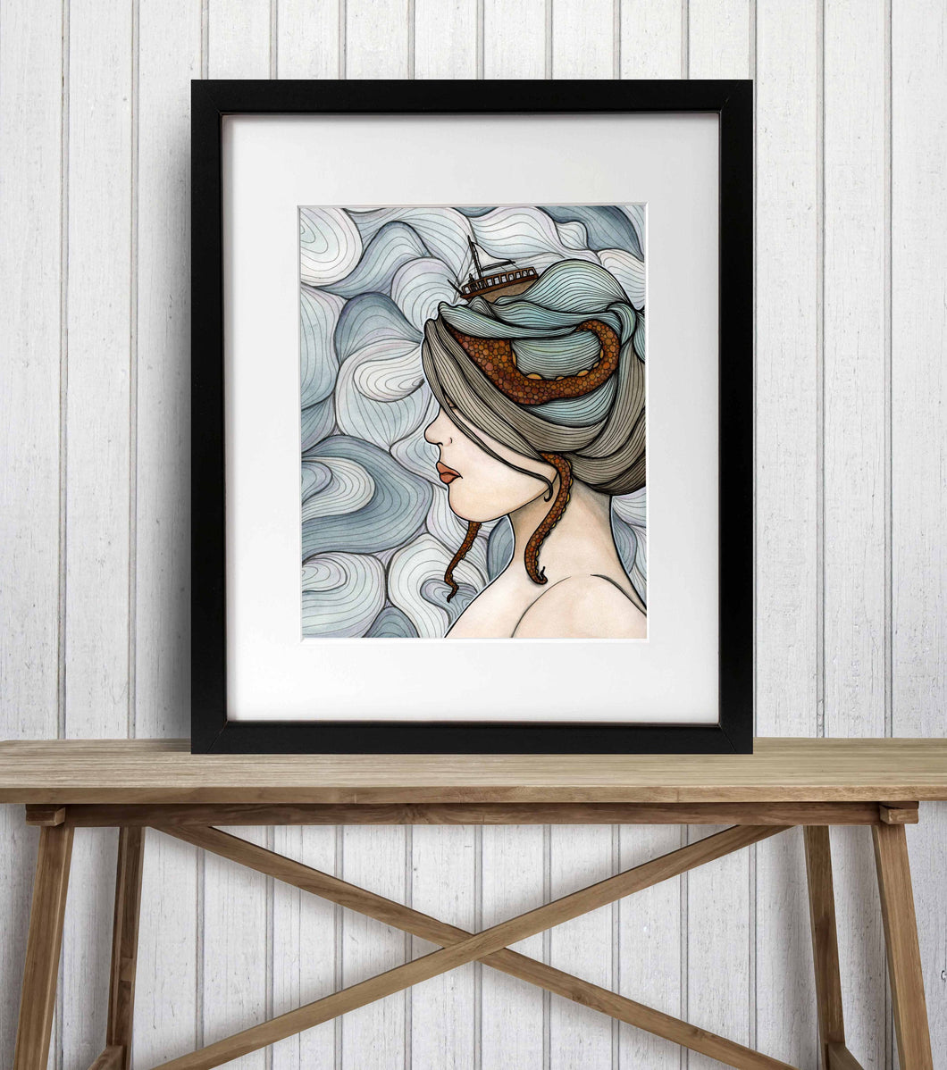 Adrift - Mental Health Inspired Watercolor Painting - Art Print