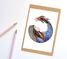 Load image into Gallery viewer, Koi Spirit, Fantasy  Inspired Notebook / Sketchbook / Journal