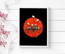 Load image into Gallery viewer, Zombie Ant - Cordycep Fungi Inspired Watercolor - Art Print