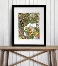 Load image into Gallery viewer, Lazy Garden Days - Harvest Inspired Watercolor Painting - Art Print
