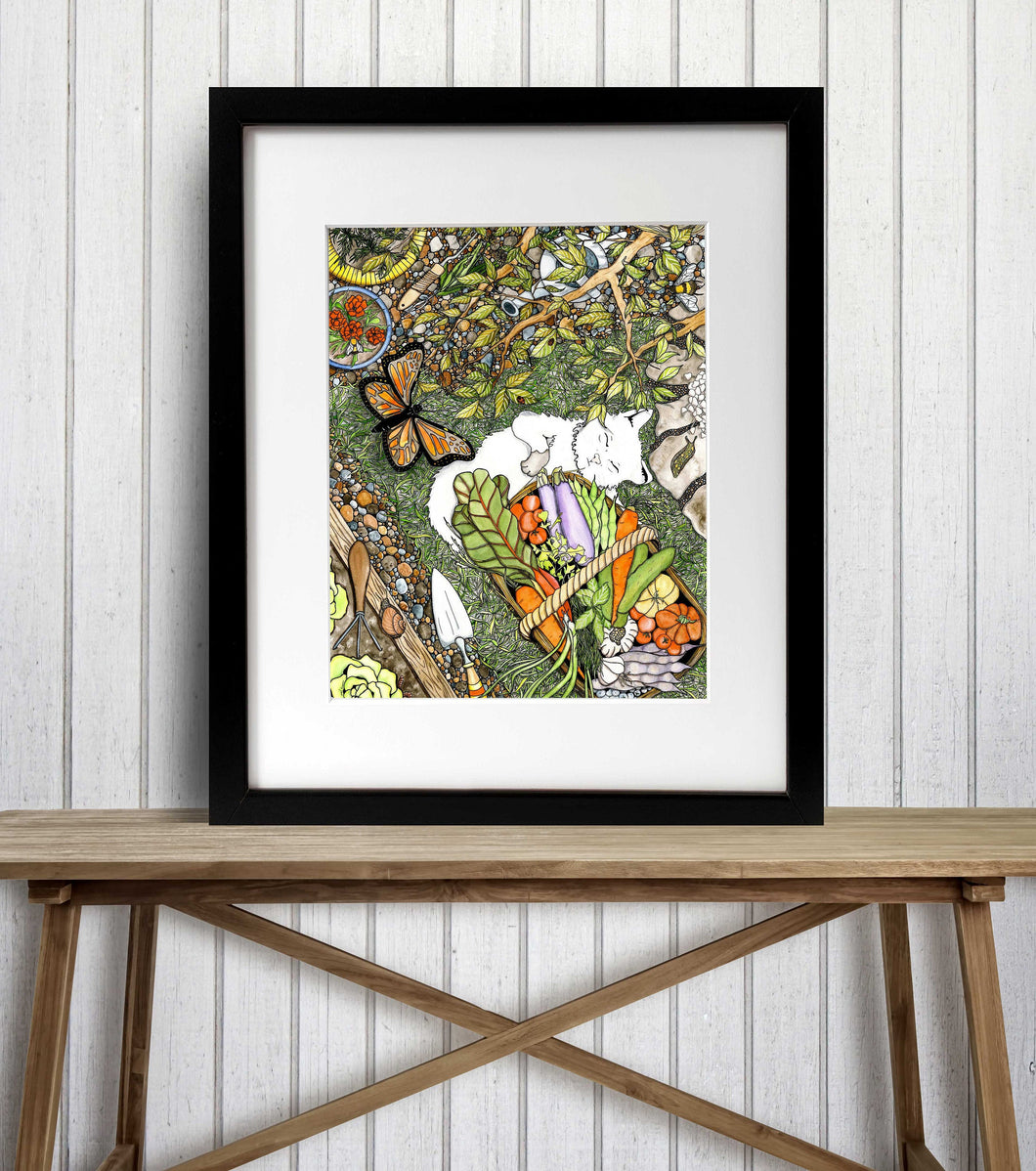 Lazy Garden Days - Harvest Inspired Watercolor Painting - Art Print