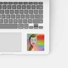 Load image into Gallery viewer, Shiny Unseen Rainbows - Pride Inspired Watercolor Painting - Holographic Vinyl Sticker