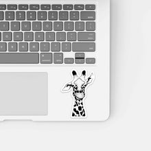 Load image into Gallery viewer, Annoyed Giraffe, Animal Inspired Ink Drawing - Vinyl Die Cut Sticker