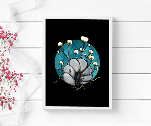 Zombie Pill Bug - Cordycep Fungi Inspired Watercolor - Art Print