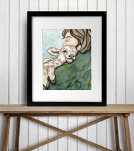 Load image into Gallery viewer, Farm Hugs - Goat Kid Inspired Watercolor Painting - Art Print