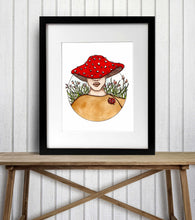 Load image into Gallery viewer, Mushroom Cap - Fantasy Inspired Watercolor Painting - Art Print