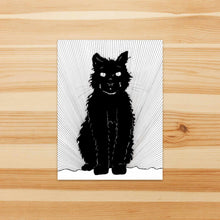Load image into Gallery viewer, Luna Cat, Pet Inspired Ink Drawing - Vinyl Die Cut Sticker