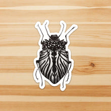 Load image into Gallery viewer, Beetle Inspiration, Insect Inspired Ink Drawing - Vinyl Die Cut Sticker