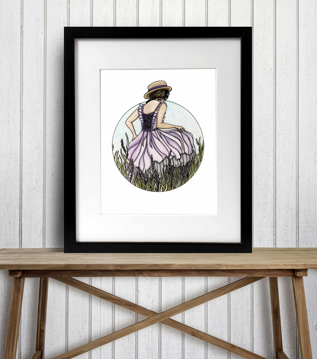 Prairie - Nature Inspired Watercolor Painting - Art Print