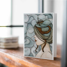 Load image into Gallery viewer, Adrift - Mental Health Inspired Watercolor Art Print - Handmade Note Card
