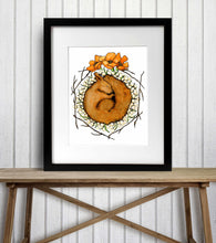 Load image into Gallery viewer, Be Like the Squirrel - Autumn Inspired Watercolor Painting - Art Print