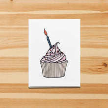 Load image into Gallery viewer, Birthday Cupcake - Sweet Treat Inspired Watercolor Print