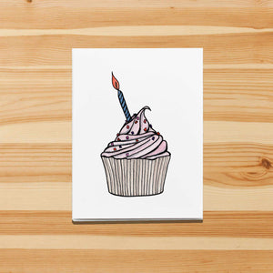 Birthday Cupcake - Sweet Treat Inspired Watercolor Print