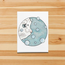 Load image into Gallery viewer, Curiosity Cat - Pet Inspired Watercolor Print - Handmade Note Card