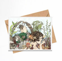 Load image into Gallery viewer, Mermaid Daydream - Fantasy Inspired Watercolor Art Print - Handmade Note Card