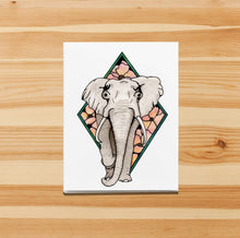Load image into Gallery viewer, Elle Elephant - Animal Inspired Watercolor Print - Handmade Note Card