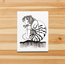 Load image into Gallery viewer, Carry On -  Fantasy Inspired Ink Drawing Print - Handmade Note Card