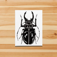 Load image into Gallery viewer, Beetle Jewel - Entomology Inspired Handmade Note Card - Note Card