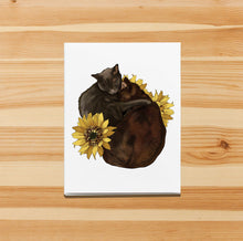 Load image into Gallery viewer, Cocoa & Grey- Cat Inspired Digital Painting- Handmade Note Card