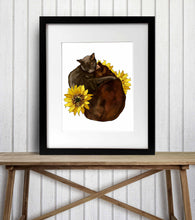 Load image into Gallery viewer, Cocoa & Grey - Pet Portrait Inspired Digital Painting - Art Print