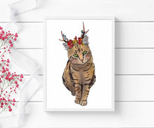 Load image into Gallery viewer, Jackalope Beauty - Pretty Kitty Inspired Digital Painting - Art Print