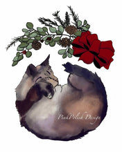 Load image into Gallery viewer, Holiday Nap  - Slumber Inspired Digital Painting - Art Print
