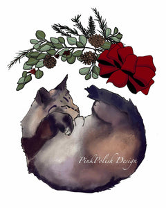 Holiday Nap  - Slumber Inspired Digital Painting - Art Print