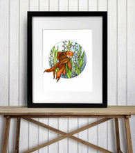 Load image into Gallery viewer, Injured - Fish Inspired Watercolor Painting - Art Print