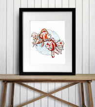 Load image into Gallery viewer, Summer Swim - Goldfish Inspired Watercolor Painting - Art Print