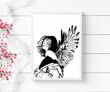 Load image into Gallery viewer, Unfurled - Strong Woman Inspired Ink Drawing - Art Print