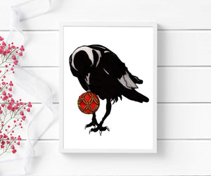 Shiny Things  - Raven Inspired Digital Painting - Art Print